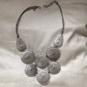 Statement Silver Necklace, local boutique item